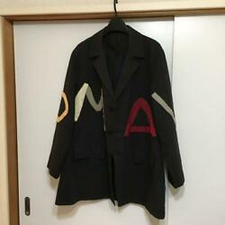Yohji Yamamoto Pour Homme Mens Black Jacket Made In Japan Cotton Genuine 80s F/s