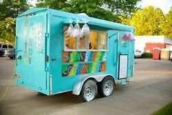 2002 6' x 14' HMDE Shaved IceSnowball and Cotton Candy Concession Trailer for S