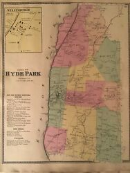 Town Of Hyde Park, Dutchess County, Ny 1867 Lithograph By F.w. Beers
