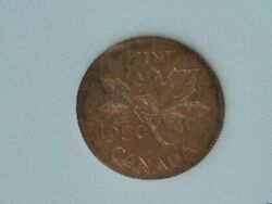 1950 Canada Small Cent Penny Uncirculated Red