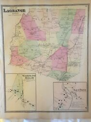 Town Of Lagrange, Dutchess County, Ny 1867 Lithograph By F.w. Beers