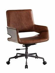 Acme Kamau Executive Office Chair With Lift, Vintage Cocoa Top Grain Leather