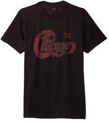Chicago Tour '72 Logo Adult T-Shirt - Rock band Jazz Rock Music Holiday Gift $24.99