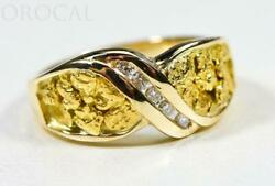 Gold Nugget Ladies Ring Orocal Rl782d15n Genuine Hand Crafted Jewelry - 14k Ca