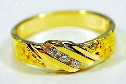 Gold Nugget Menand039s Ring Orocal Rmaj036d Genuine Hand Crafted Jewelry - 14k Cast