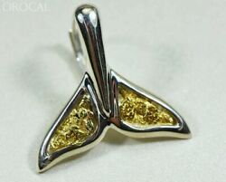 Gold Nugget Pendant Whales Tail - Sterling Silver - Special Ewt44lnlb - Hand Mad