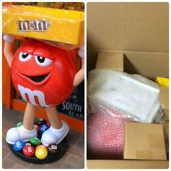 Mandm's Red Character Candy Store Display With Storage Tray Free Shipping From Jpn