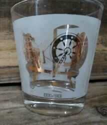 Vintage Made In France Whiskey Glass 4 Oz. Sewing Fire Stove Design