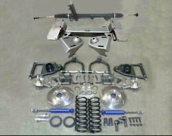 1949-1954 Chevy Car Mustang Ii Bolt On Front Suspension Kit Power Stock Slotted