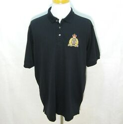RCMP Royal Canadian Mounted Police Mens Black Polo Shirt (Size 2XL) Mounties Top