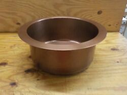 Nantucket Sinks Rs18-lc 18 Copper Hammered Brightwork Single Bowl Sink