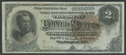 Fr244 2 1886 Silver Certificate Large Brown Seal Xf+ Wlm9689