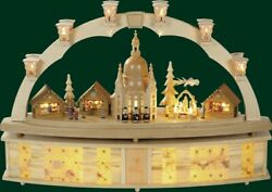 Candle Arches Dresden Church of Our Lady + Pyramid Electric Illuminated Arch New