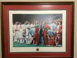 A Club Print Of Coach And 315 Signed By Paul Bear Bryant 256 Of 315. Reduced