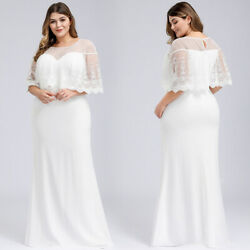 Ever-Pretty US Plus Size Lace Long Wedding Dresses Formal Mermaid Celebrity Gown