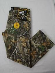 Mens Realtree Edge Jeans Size 38 - 32 Camouflage Pants Deer Hunting Bow Outdoors