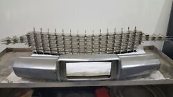 59 Cadillac Pina Farina Grill With Bumper, Brackets And Hardware As In Photo.