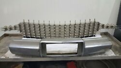 59 Cadillac Pina Farina Grill With Bumper Brackets And Hardware As In Photo.