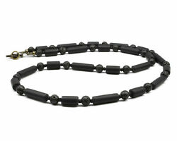 Thin Black Necklace - Unisex Or Mens Necklace - Mens Beaded Necklace