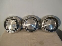 Three Vintage Plymouth Dodge Dog Dish Hubcaps Wheel Covers 1965 10 Inches