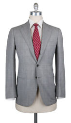 New 6300 Cesare Attolini Gray Wool Plaid Suit - 38/48 - Ca816172