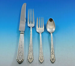 Mary Ii By Lunt Sterling Silver Flatware Set For 8 Service 36 Pcs R Monogram