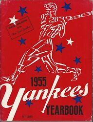 Vintage 1955 New York Yankees Yearbook Signed By Johnny Kucks