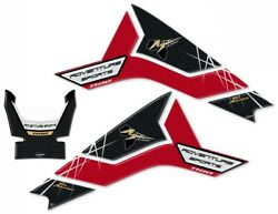 Set 3 Stickers 3d Tank Motorcycle Compatible Honda Africa Twin Adventure 1100 L