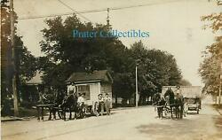 Ohio, Oh, Mt Vernon, Sam Clarke Building Mover Horse And Wagon Early Rppc
