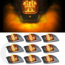 For Kenworth Peterbilt M27011y Amber Roof Cab Marker Clearance Light 7led Qty-9