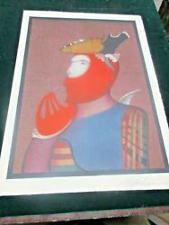Mihail Chemiakin   Angel In Mask   Signed Lithograph