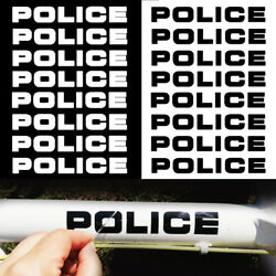 8x Police Sticker Decal Vinyl For Car Bike Truck Motorcycle Toy Laptop 16x2.5cm