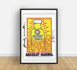 Keith Haring And Andy Warhol Absolute Vodka Various Sizes Thick Fine Art Paper