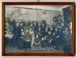 Russian Imp Colonel Military Doctor Badges Christmas Tree Group Photo 1912 Icons