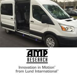 Amp Research Plug-n-play Running Board Power Steps For 14-19 Ford Transit Van