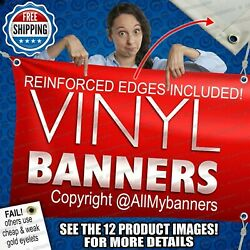 4and039 X 8and039 Custom Vinyl Banner 13oz Full Color Free Basic Design Included