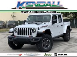 2020 Jeep Gladiator Rubicon 2020 Jeep Gladiator Rubicon 20 Miles Bright White Clearcoat 4D Crew Cab 3.6L V6