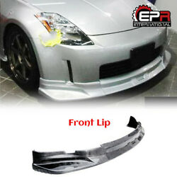 New Cw-style Front Bumper Lip Bar Wing For Nissan 350z Z33 03-05 Carbon Fiber