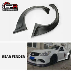 For Infiniti G37 4 Door Tp Style Frp Unpainted Widebody Rear Fender Flares Kits