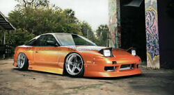 For Nissan 180sx Ur Style Frp Unpainted Front And Rear Bumper And Side Skirt Kits