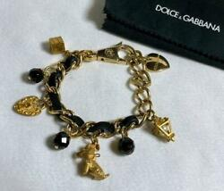 Dolce And Gabbana Vintage Logo Letters Multi Icon Chain Bracelet F/s From Japan
