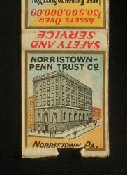 1930s Diamond Quality Norristown-penn Trust Company Norristown Pa Montgomery Co