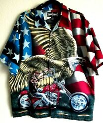Steve And Barry's Club Motorcycle Eagle Biker Shirt Men's Size Large
