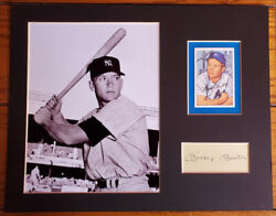 Cut Autograph With 8 X 10 Picture Of Mickey Mantle