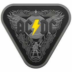 ⚡️2018 Ac/dc 45 Years Of Thunder - 5 Silver Nickel Plated Proof Coin Australia⚡