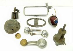 Buick Rear View Mirror Taillight Window Handle Car Parts Mixed Vintage Lot Metal