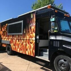Solar-Powered Fully Self-Contained GMC Food Truck  Used Kitchen on Wheels for S