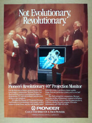 1987 Pioneer Projection Monitor TV Television vintage print Ad