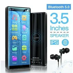 Mymahdi Mp3 Player With Bluetooth 5.0 High Resolution And Full Touch Screen Bu