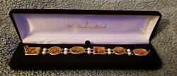 Vintage Danbury Mint Hummel Gold Plated And Cultured Pearls 7 Bracelet New Boxed